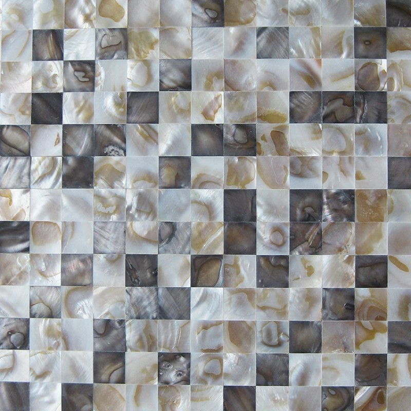 Stained Mother Of Pearl Shell Tile Seamless Seashell Mosaic Sheets Bathroom Floor Mirror Wall Tiles Kitchen