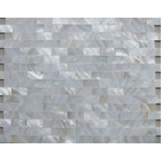 Seamless mother of pearl tile backsplash white freshwater shell subway tile natural seashell mosaic wall decor MSS308