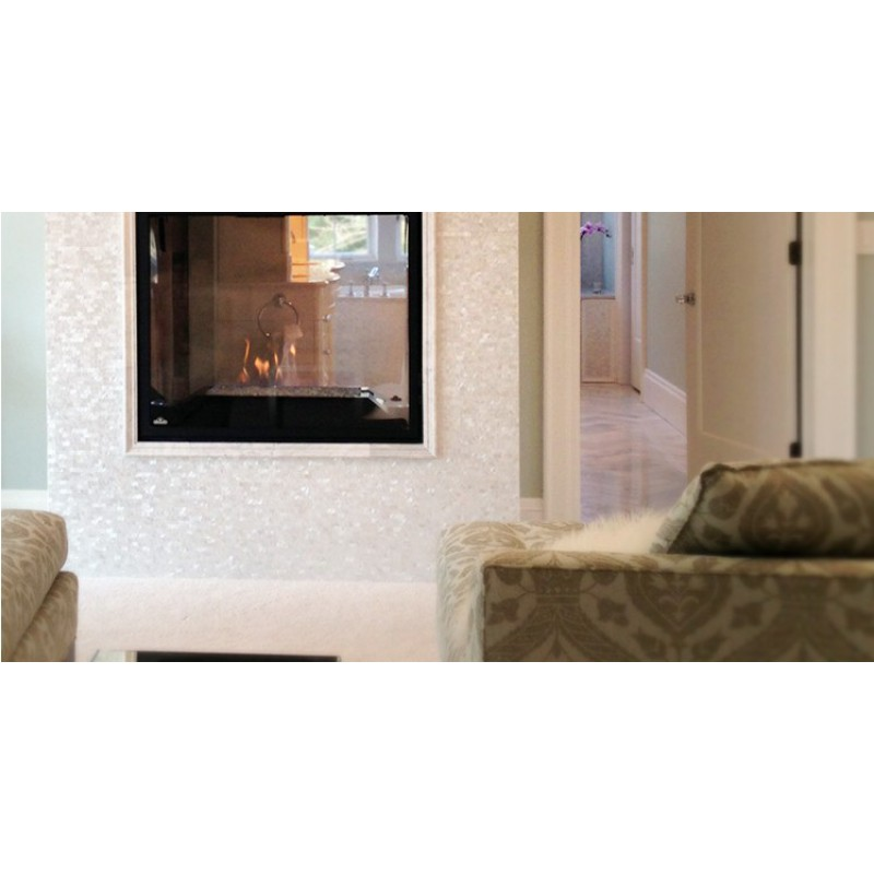 Mosaic Wall Decor seamless mother of pearl tile backsplash white freshwater shell