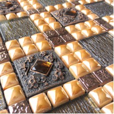 stainless steel crystal wall patterns glass diamond champagne metal glass mosaic sheet WY-888 kitchen backsplash cheap bathroom 3d floor tiles