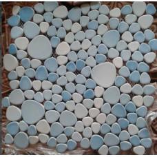 porcelain pebble tile heart-shaped ceramic mosaic designs kitchen backsplash cheap XX001 glazed pebbles flooring bathroom wall tiles
