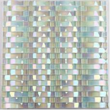 Iridescent glass mosaic tile sheets arch kitchen mosaic backsplash designs interlocking patterns wall tiles decor CGT89