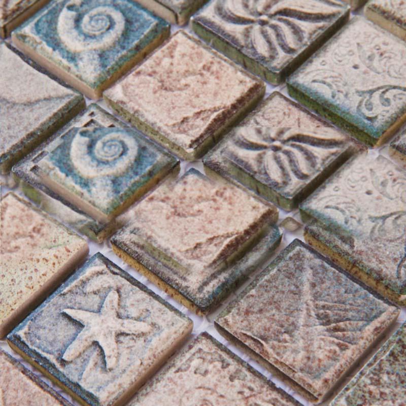 Ceramic mosaic tile sheets arabesque patterns kitchen backsplash ...