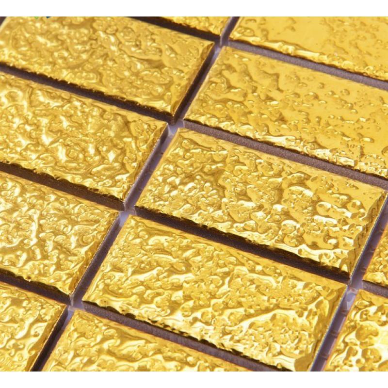 GoldEramicMosaicTileBrickArabesquePatternsKitchen