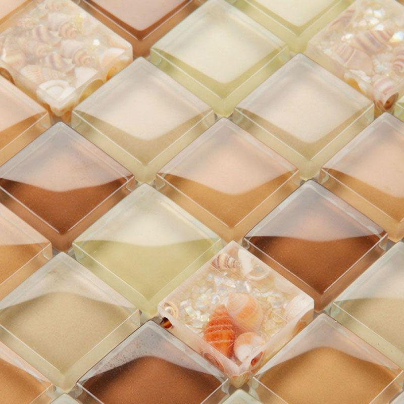 Brown Glass Tile Backsplash Ideas For Kitchen Walls Yellow Resin Adorable Resin Backsplash Ideas