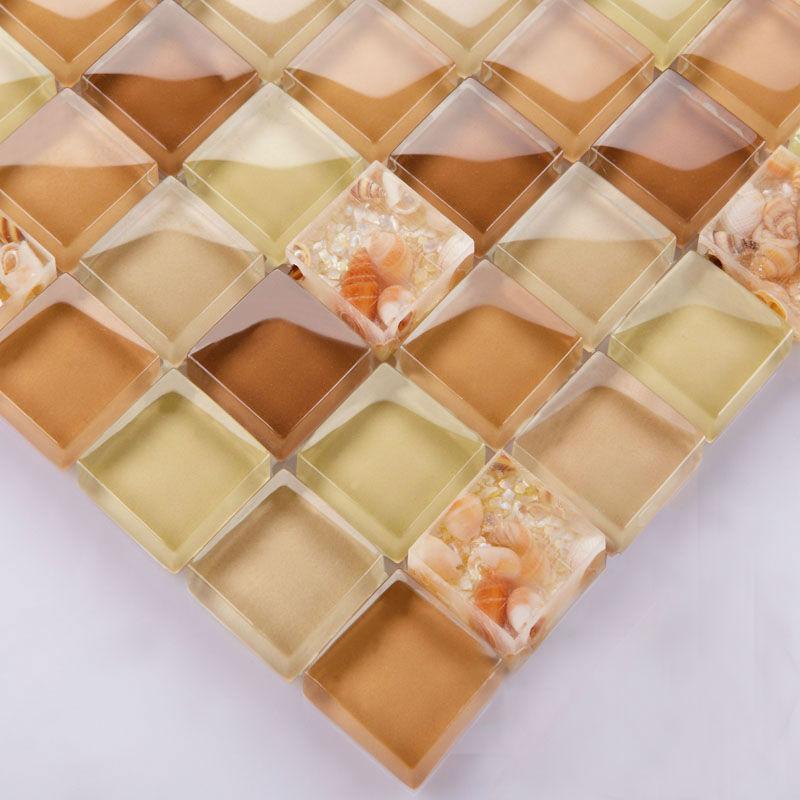 Brown Glass Tile Backsplash Ideas For Kitchen Walls Yellow