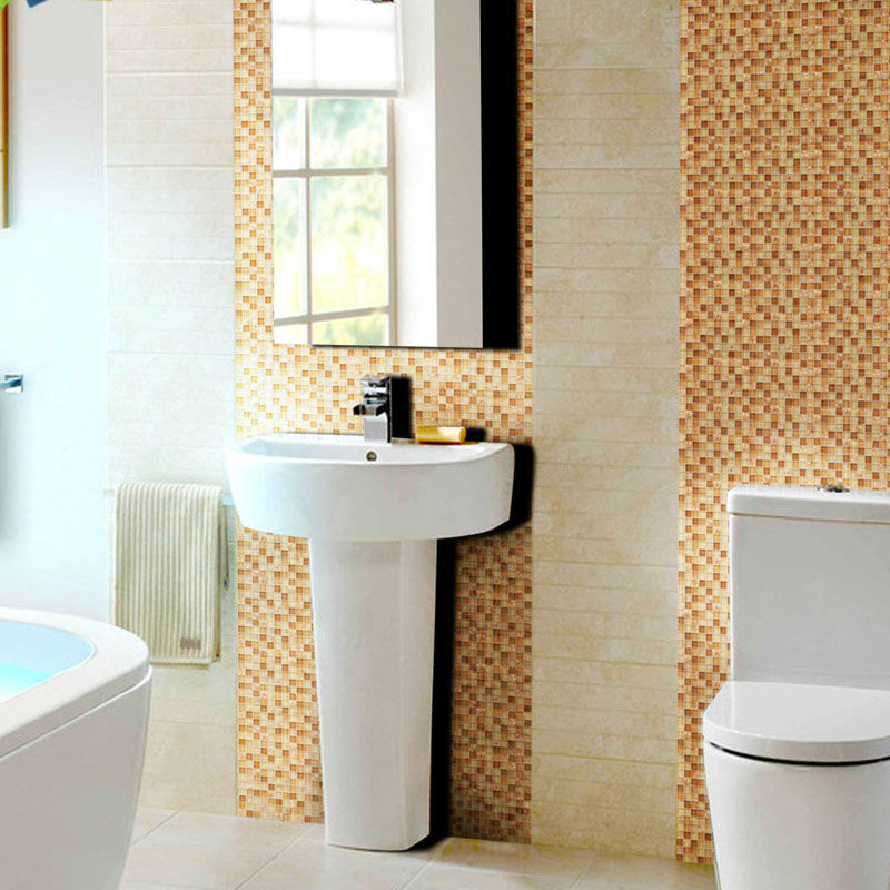 ... Brown Glass Tile Backsplash Ideas For Kitchen Walls Yellow Resin Chips  With Conch Mosaic Designs Bathroom