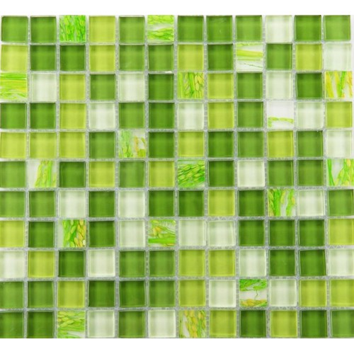 Glass mosaic tile backsplash Glass wall tiles YF-MTLP22 green Crystal mosaic tiles Kitchen backsplashes mosaics for bathroom