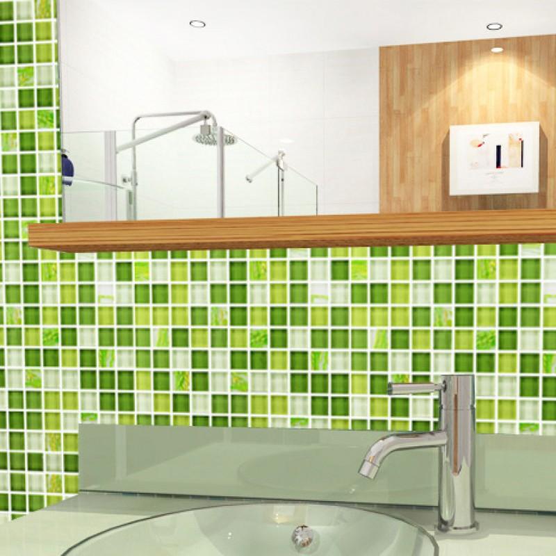 Glass Mosaic Tile Backsplash Glass Wall Tiles YF MTLP22 Green Crystal  Mosaic Tiles Kitchen Backsplashes Mosaics For Bathroom