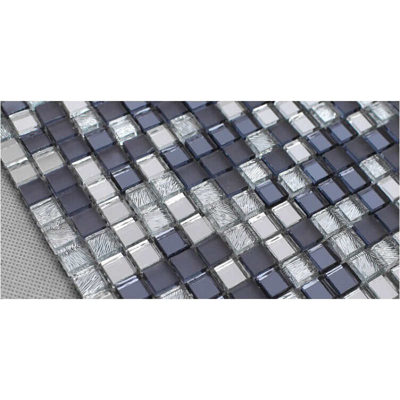 Glass mosaic wall stickers mirror tile backsplash z186 - Mirror mosaic tile backsplash ...