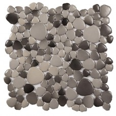 ceramic mosaic tile backsplash pebbles glazed tiles ZYS10 sheet gray porcelain pebble tile designs swimming pool flooring