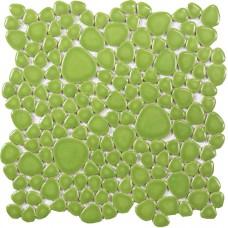 glazed porcelain ceramic mosaic pebble tile green porcelain wall tile backsplash ZYS2 bathroom shower floor mirror stickers