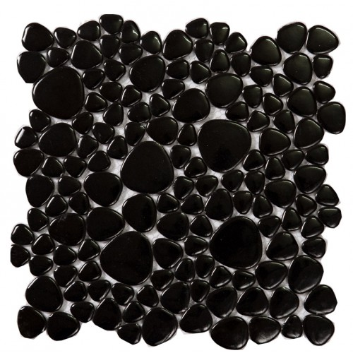 glazed porcelain mosaic pebble tile black ceramic porcelain wall tiles ZYS6 kitchen backsplash bathroom shower floors