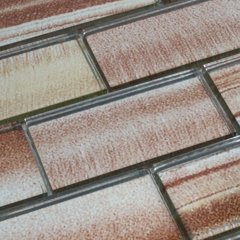 tile kitchen backsplash brown smile subway tiles crystal grain board