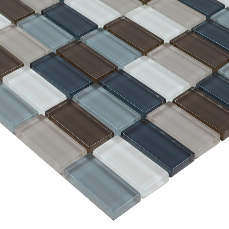 crystal glass tile sheets strip kitchen backsplash tile wall sticker