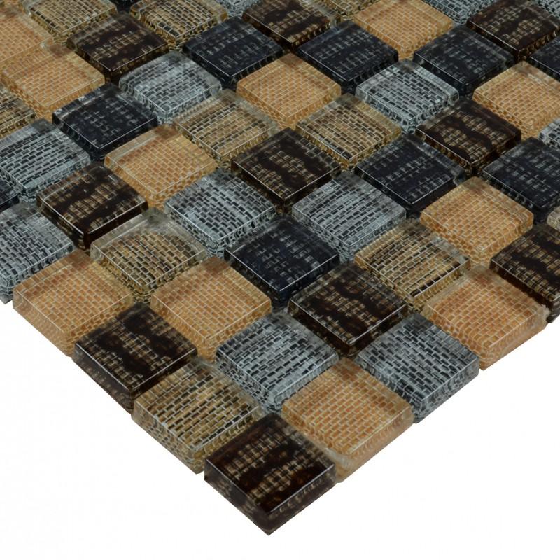 glass mosaic tile backsplash square crystal kitchen tile