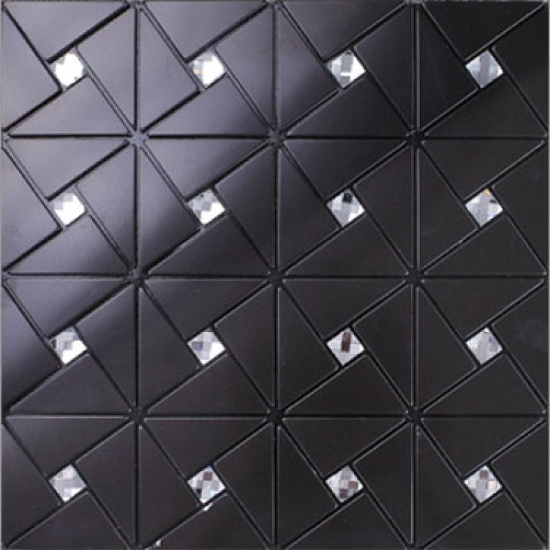 glass diamond mosaic peel and stick backsplash kitchen wall tiles