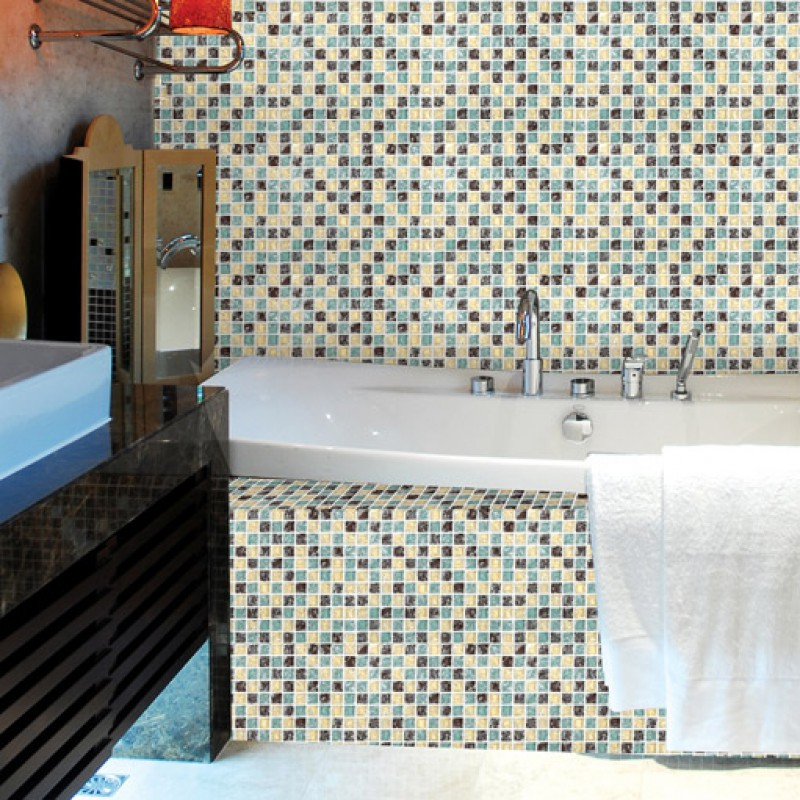 ... Crackle Glass Tile Backsplash Ideas Bathroom And Kitchen Shower Wall  Tiles Design Cheap Crystal Glass Mosaic ...
