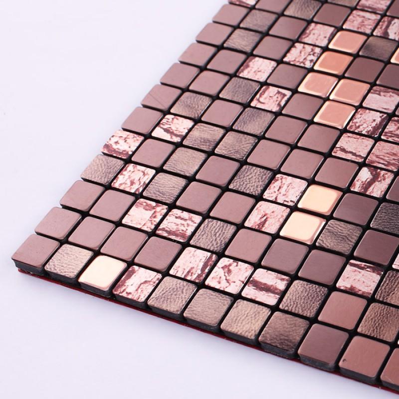 Brown Alucobond Tile Plastic Mounted Self Sticker Aluminum
