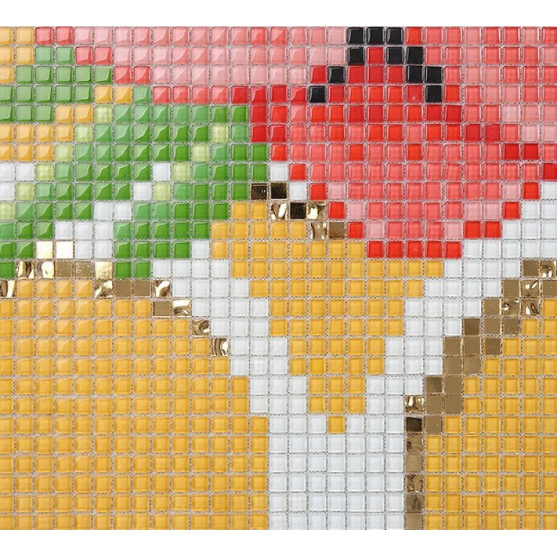 Glass Tile Backsplash Wall stickers Puzzle Mosaic Tile flower ...