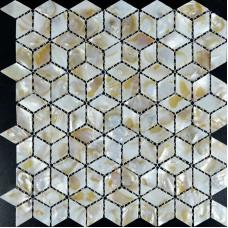 Mother of Pearl Shell Tile diamond sheets Iridescence Seashell Mosaic 3d designs Kitchen Backsplash Tiles Bathroom shower walls ST068