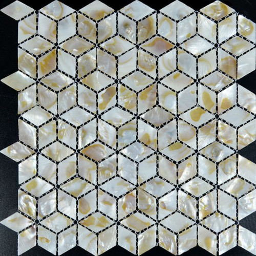 Mother of Pearl Shell Tile diamond sheets Iridescence Seashell Mosaic 3d designs Kitchen Backsplash Tiles Bathroom shower walls ST068