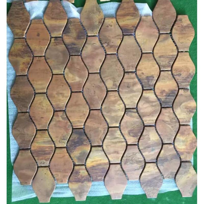 Metal Mosaic Tile Stainless Steel Tile bottle patterns Kitchen ...