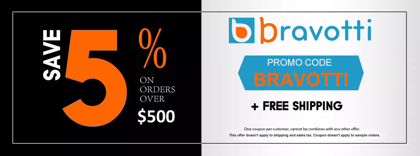 coupon promo code BRAVOTTI - save 5% off