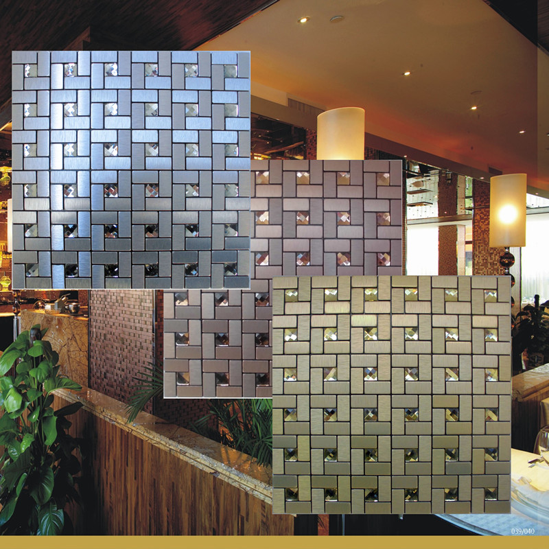 Fresh Peel and stick mosaic tiles diamond glass tile backsplash pinwheel patterns metal aluminum ACP cheap wall Ideas - Contemporary backsplash tile shapes Picture