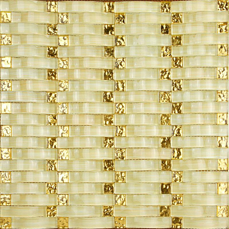 Hand Painted Wavy Mosaic Tile Sheets Bathroom Wall Tiles Crystal ...