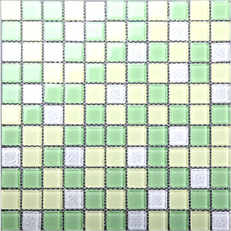 glass mosaic tile sheets green crystal backsplash kitchen tile bathroom mirror tiles bathroom wall mosaics decorative 2g4wyg