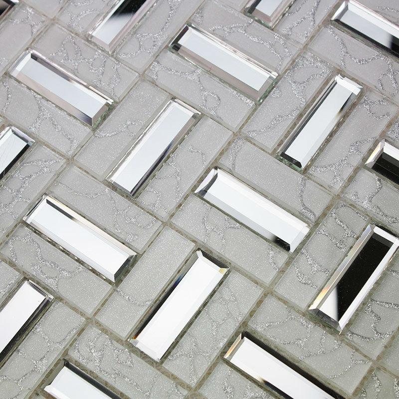 Crystal Gl Mosaic Tile Sheet Wall Kitchen Backsplash Floor Stickers Design Bathroom Mirror Pool White Dragon