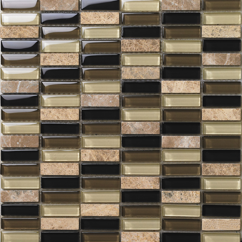Glass Tile Backsplash Kitchen Design 605 Crystal Glass & Stone Blend Mosaic  Art Natural Marble Tiles Wall Bathroom Floor Tiles - Tile Backsplash Kitchen Design 605 Crystal Glass & Stone Blend