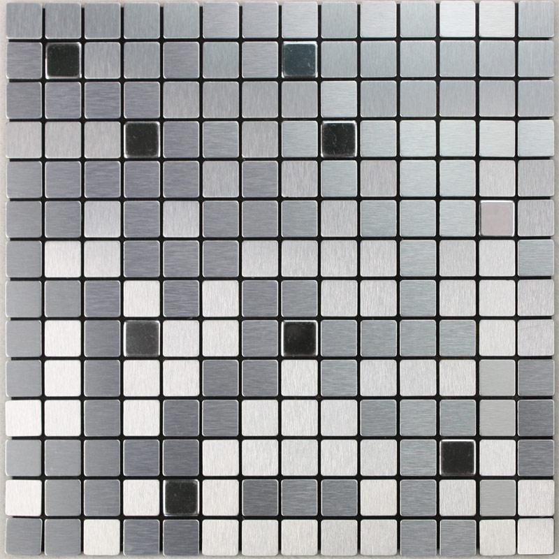 Metal Mosaic Tile Sheets Grey Metallic Kitchen Wall Tiles Kitchen Backsplash Stickers Adhesive Tiles Stainless Steel Tile 6105