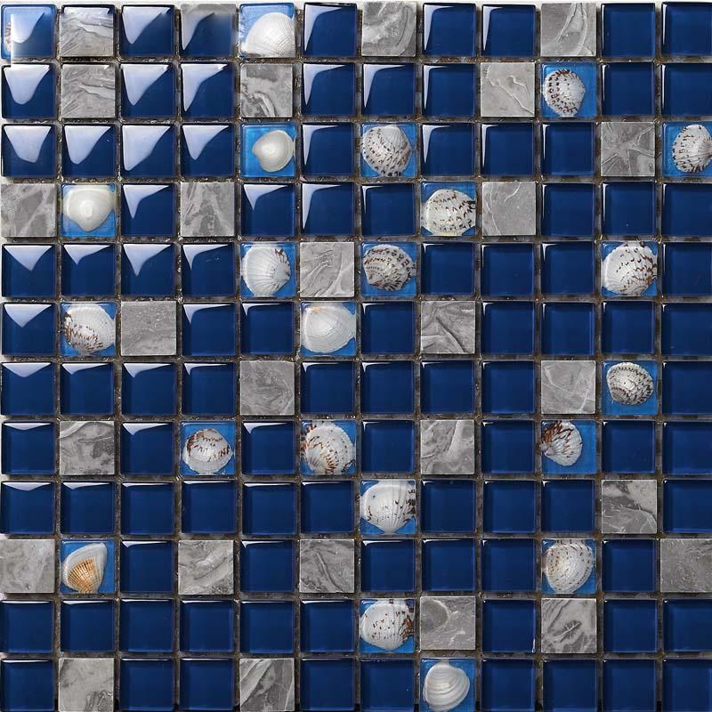 Glass Tile Backsplash Kitchen Shell Tile Design Crystal Glass