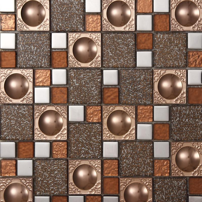 metallic mosaic bathroom tiles