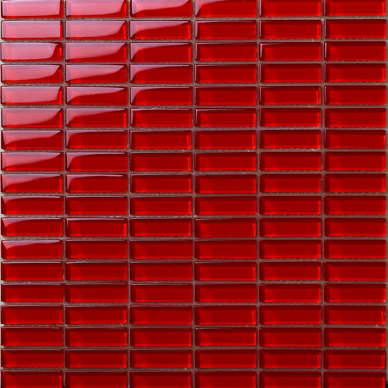 Glass mosaic tile sheets red crystal glass tile idea Mosaic kitchen wall tiles ideas
