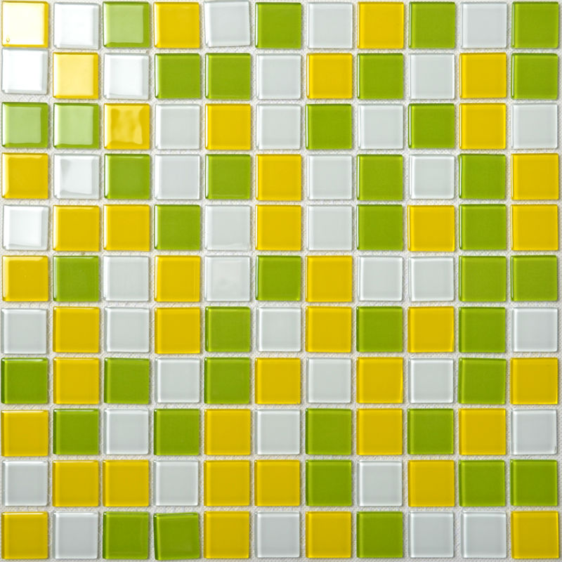 Crystal Glass Mosaic Tiles Wall Stickers Mixed Colors