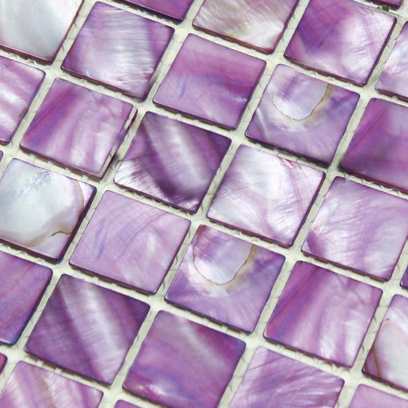 Mother Of Pearl Mosaic Tiles Mirrored Wall Art Painted