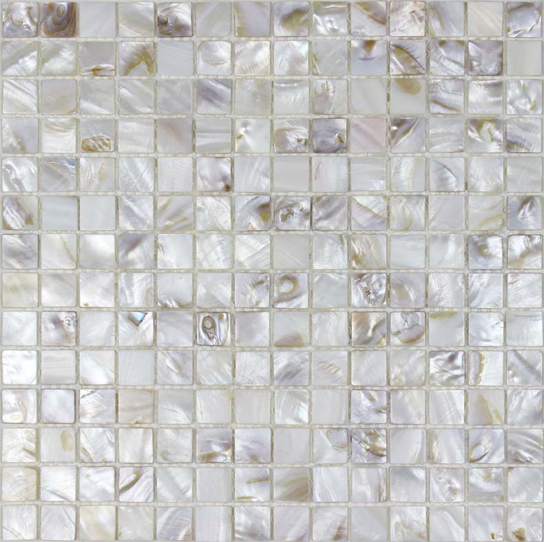 "Mother of pearl tile 4/5"" natural shell tiles kitchen"