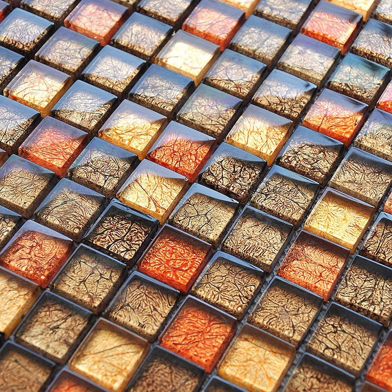 Glass Mosaic Tile Sheets Crystal Glass Tile Brick Kitchen