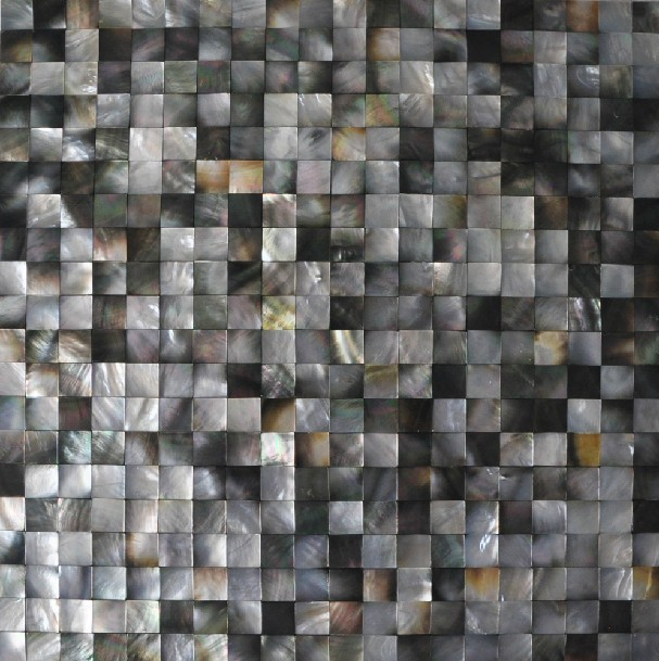 Seashell Mosaic Seamless Mother Of Pearl Tiles For Backsplash In