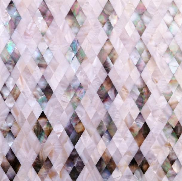 Seashell Diamond Shape Kitchen Backsplash Cheap Shell