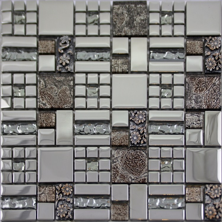 Crystal Glass Mosaics Tile Mosaic Kitchen Backsplash Wall