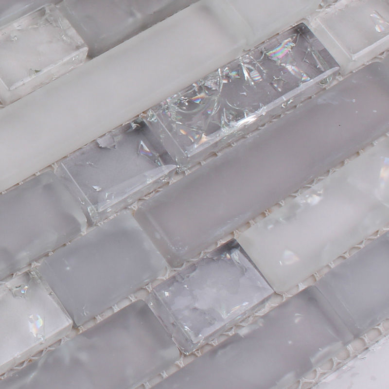 Crystal Glass Mosaic Crack Stickers Kitchen Backsplash