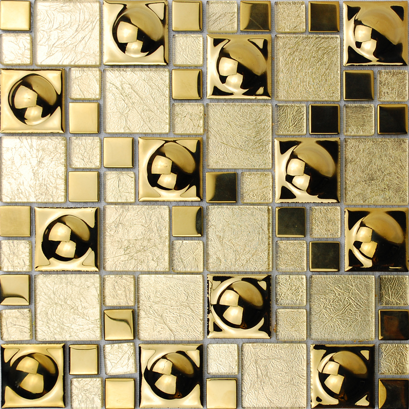 Crystal Glass Tiles Sheet KL882 Mosaic Art Wall Stickers Kitchen ...