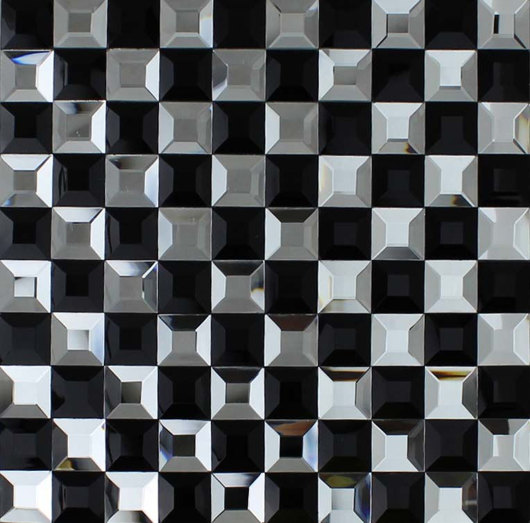 Kitchen Tiles Black And White Design black and white mosaic bathroom floor tiles pyramid 3d glass