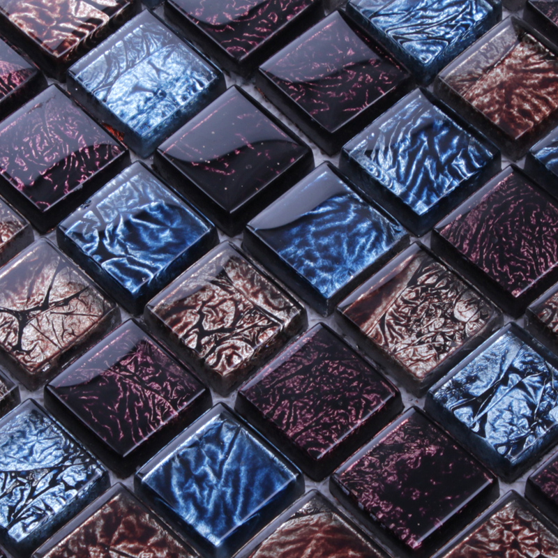 Glass Mosaic Tiles Patterns Crystal Glass Tile Sheets