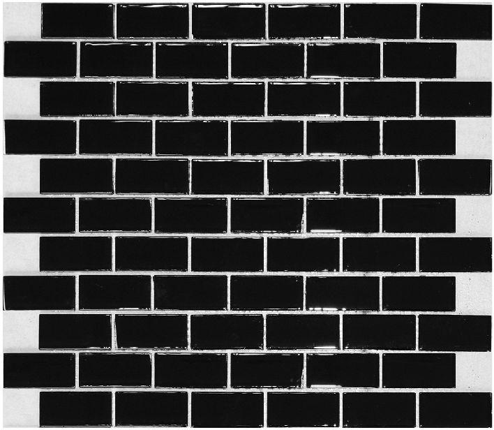 Black Glass Subway Tile Backsplash Kitchen Liner Wall Brick Interlocking Mosaic Tile Crystal Wall Skirting Bath Tiles Rzg106oyg