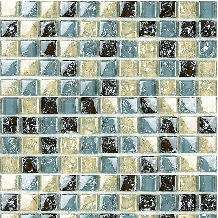 Crack Glass Mosaic Tile Sheets Modern Fashion Kitchen